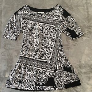 WHBM Black & White Tunic